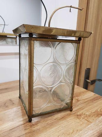 Żyrandol plafon szklany