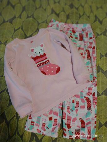 Флисовая пижама картерс 7Т, carter's