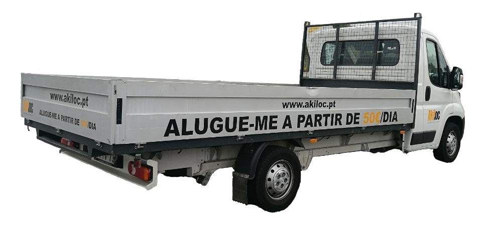 Aluguer carrinha de caixa aberta 3500 kgs a partir de