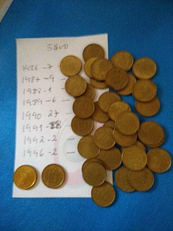 Conjunto de 82 moedas antigas de 5$00