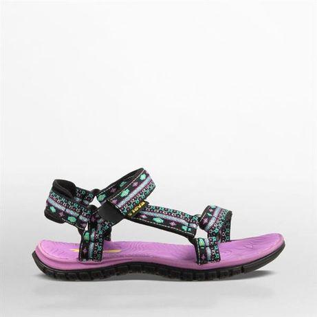 Sandały sportowe TEVA fioletowo-czarne rozmiar 29 30