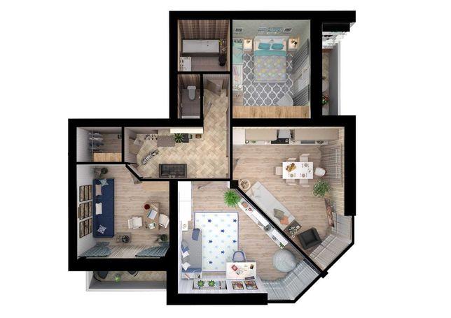 Продам 3-х комнатную квартиру с  видом на проспект!