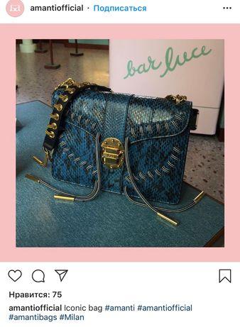 Итальянская питоновая сумка