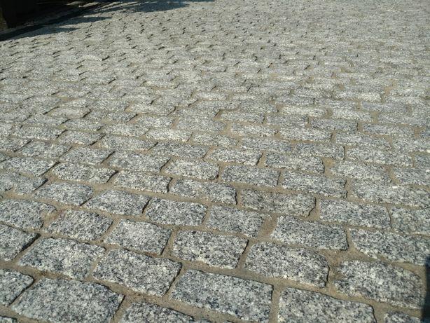 kostka 8x8x16cm granitowa brukowa granit palisada obrzeże krawężnik