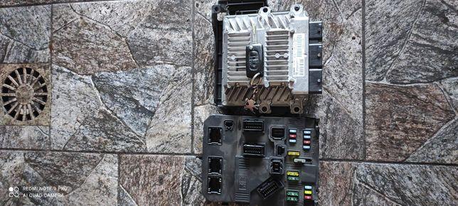 Zestaw startowy sterownik silnika BSI immobiliser kluczyk peugeot 407