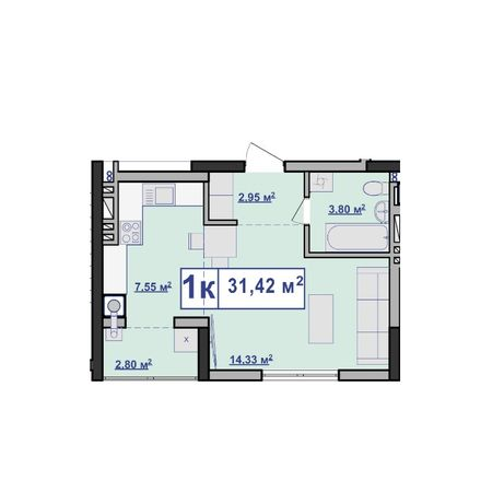 Дешева 1 кімнатна в ценрі міста