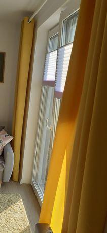 Zasłony żółte/musztardowe 140/250 cm