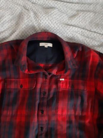 Koszula lee czerwono-czarna kratka