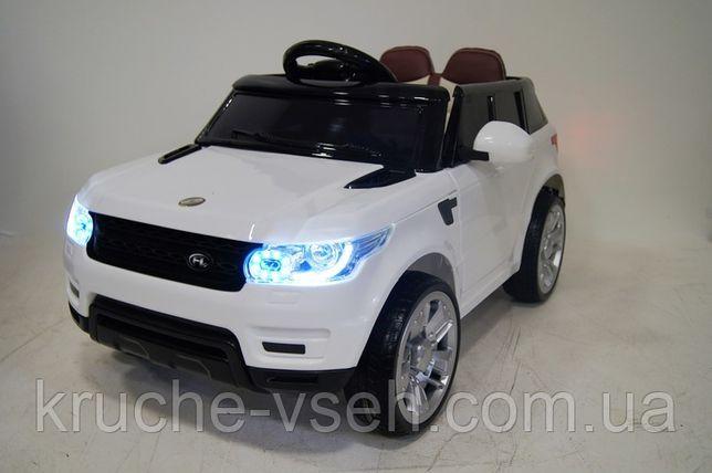 Детский электромобиль Джип M 3402, Land Rover, колеса EVA, кожа, mp3