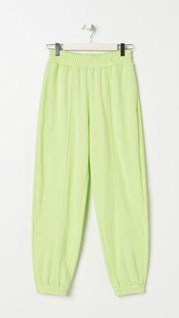Spodnie dresowe dresy limonkowe S sinsay