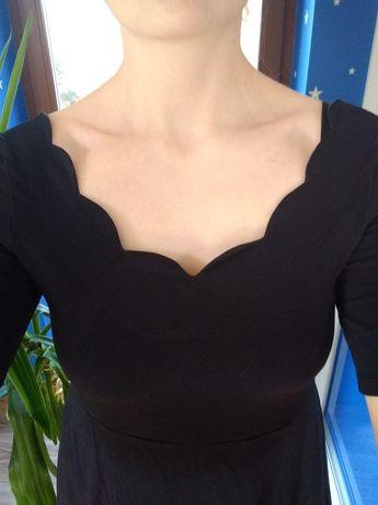 Sukienka ciążowa Asos 38 czarna + spodnie ciążowe S/M
