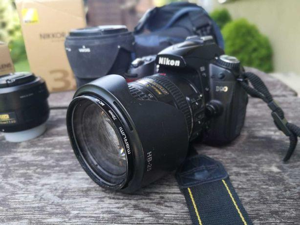 Aparat Nikon D90 +4 obiektywy