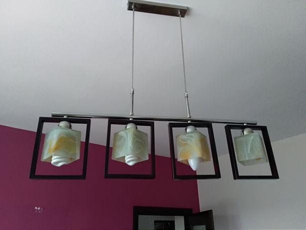 lampa żyrandol wenge