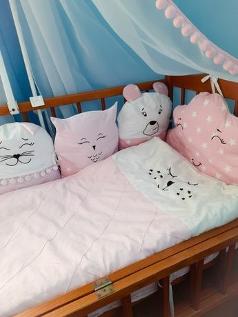 Набор в кроватку кровать комплект в ліжечко бортики балдахін