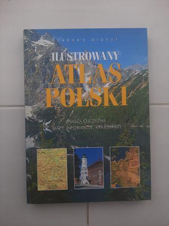 Ilustrowany atlas Polski Reader's Digest, mapy informacje krajobrazy