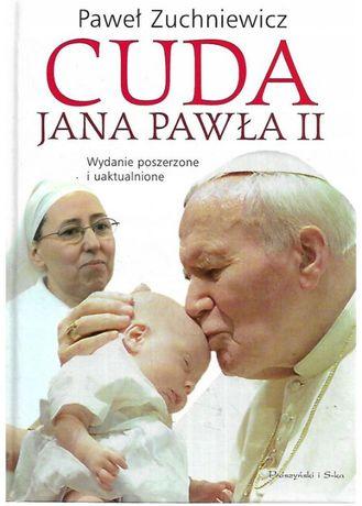 Zestaw 10 książek + skoroszyty - Cuda Jana Pawła II, pielgrzymki i in.