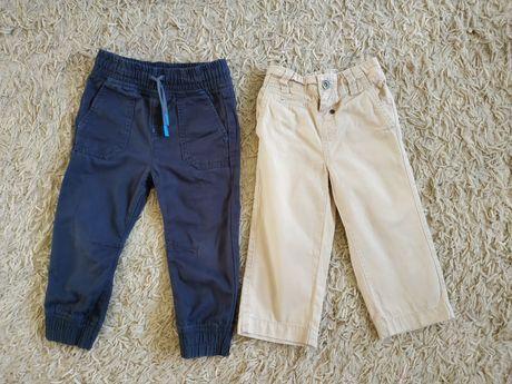 Spodnie chłopięce 92, 18-24mce, jasne, ciemne