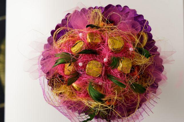 Słodki bukiet Walentynki Dzień Kobiet Urodziny Imieniny