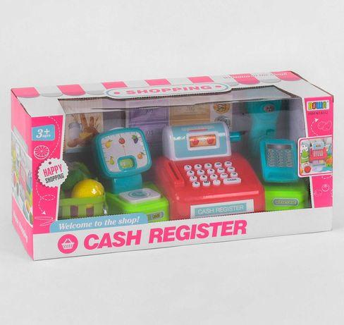 Кассовый аппарат детский, сканер, весы, корзина, овощи, терминал
