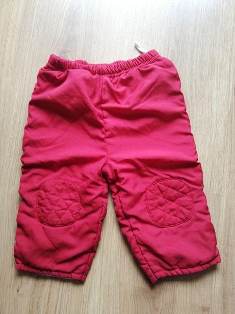 nr 68-spodnie na podszewce r 80