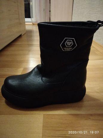 Зимние ботинки, кожа, новые