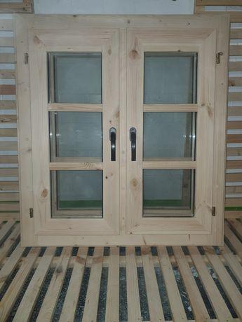 Okno drewniane 90 x 100 od ręki