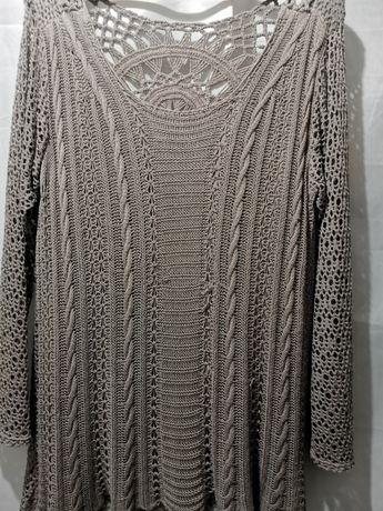 Sweterek włoski ażurowy L