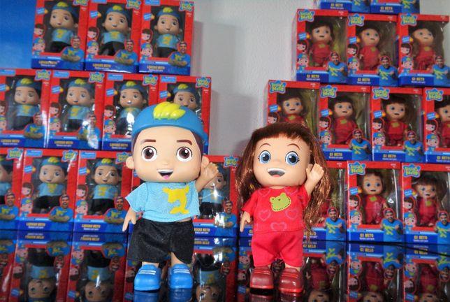 Boneco Luccas neto e Gi neto 14 falas cheirinho e roupas novos caixa