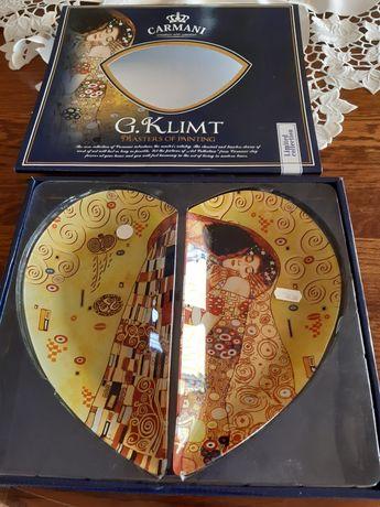 CARMANI talerz dekoracyjny serce - patera G.Klimt (2 cz.)