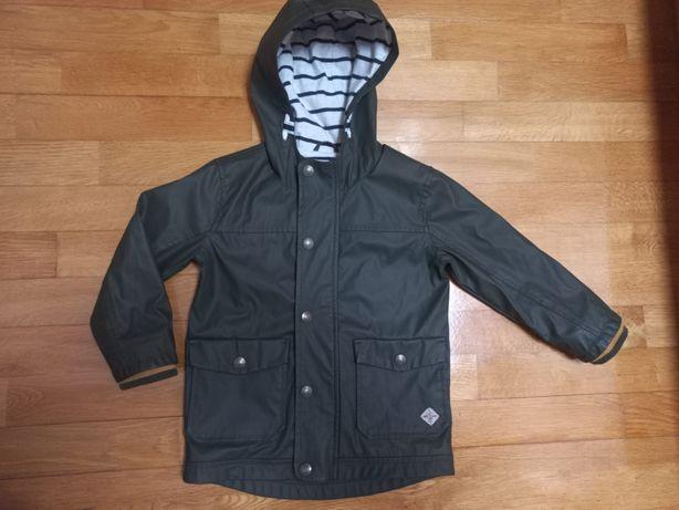 Next kurtka płaszcz przeciwdeszczowa  khaki chłopiec 2-3 lat 98cm
