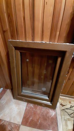 Okno PCV złoty dąb/ biały