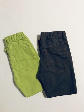 Zestaw 116 spodnie skiny H&M