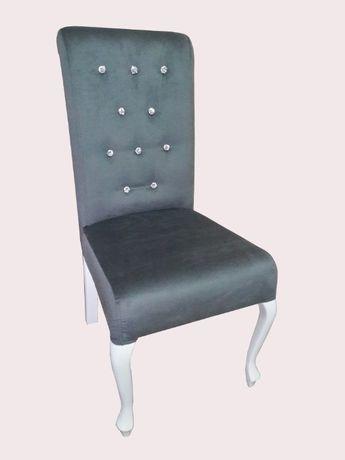 Krzesło Tapicerowane CHESTERFIELD jadalnia salon Glamour Niska Cena