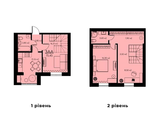 Двухуровневая квартира в новой очереди строительства от Застройщика