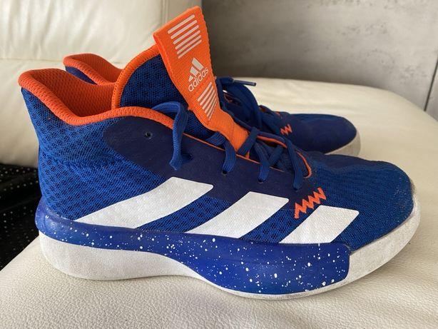Niebieskie wysokie skorzane adidasy adidas ortholite 37 1/3