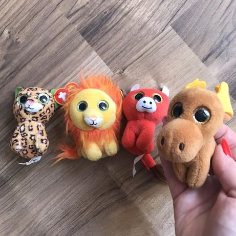 Глазастики Ty мягкие игрушки лось бык лев леопард