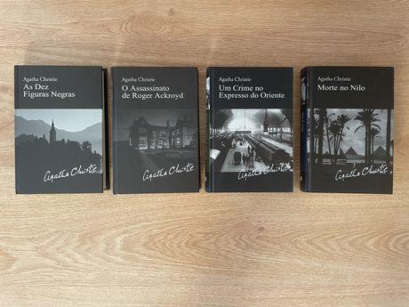 """Livros da colecção """"Biblioteca Agatha Christie"""" edição em capa dura"""