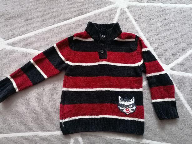 Ciepły sweter sweterek rozmiar 98-104