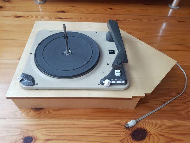 Gramofon Dual 1007A + dokumenty z szafy grającej radiola Grundig 1960r