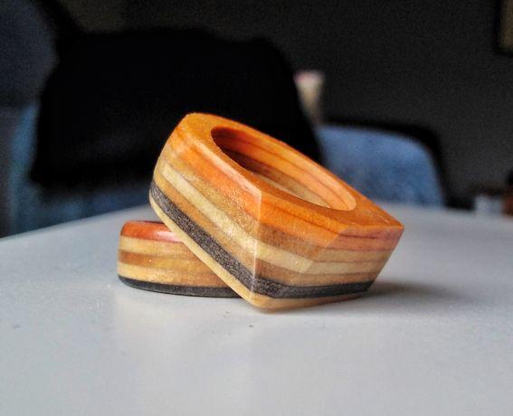 Pierścień, obrączka, deck, drewno, deskorolka