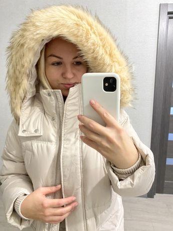 Натуральный пуховик, зимний пуховик, зимняя курточка, зимняя куртка