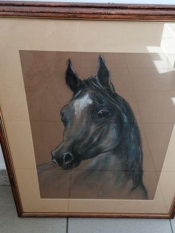 Tryptyk trzech obrazów w temacie Koń