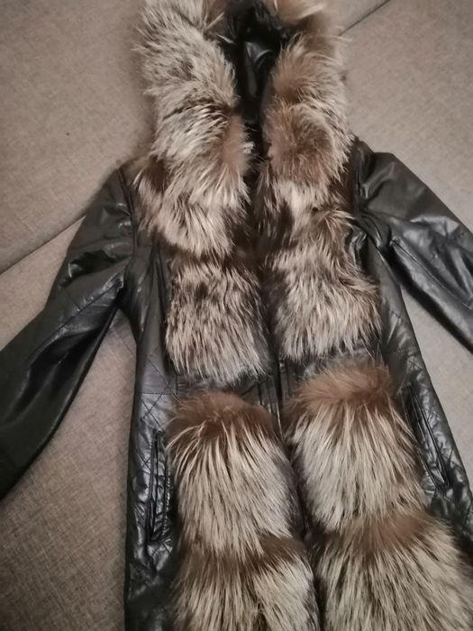 Шкіряна куртка з хутром чорнобурки Львов - изображение 1