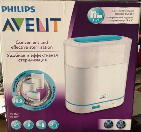 Электрический паровой стерилизатор PHILIPS AVENT 3-in-! SCF284