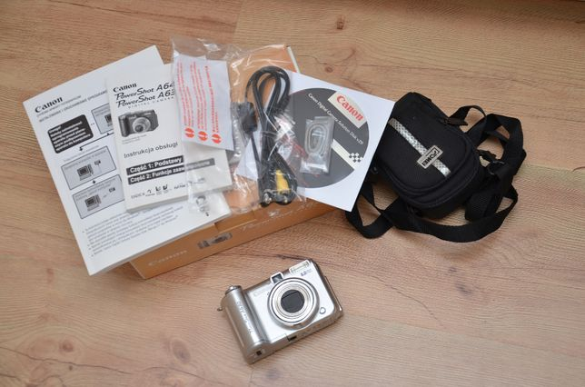 Aparat CANON A630 PowerShot + Adapter pod filtry 58mm + karta SD +etui
