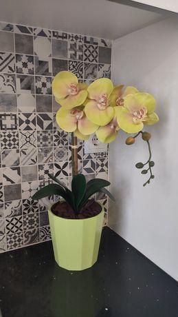 Vaso com  orquídea artificial