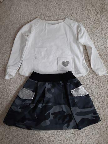 Bluzka spódnica,  komplet dziewczęcy rozm. 122-128