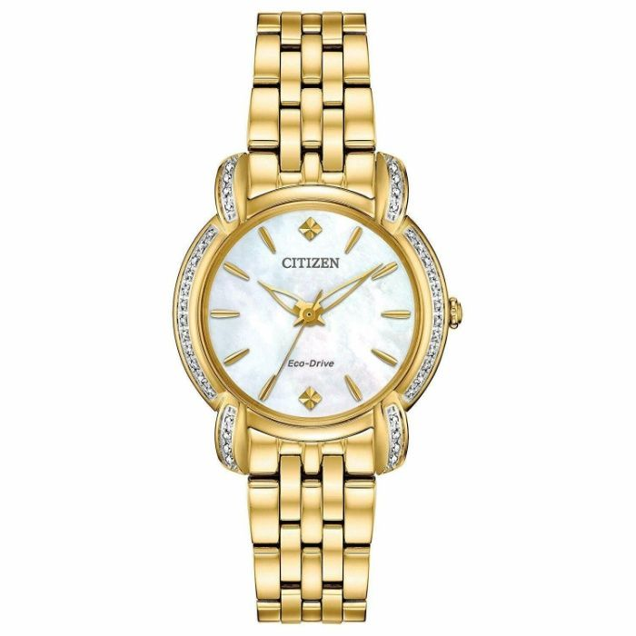 Женские часы Citizen Eco-Drive (Diamond Accents) Gold-Tone EM0692-54D Ужгород - изображение 1