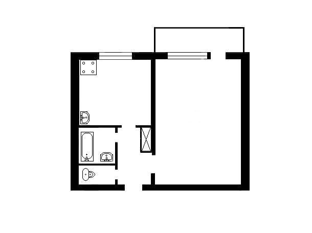 Продається 1 кімнатна квартира смт Козельщина