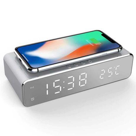 Despertador •  Relógio LED •  Carregador Wireless [iPhone Samsung Etc]
